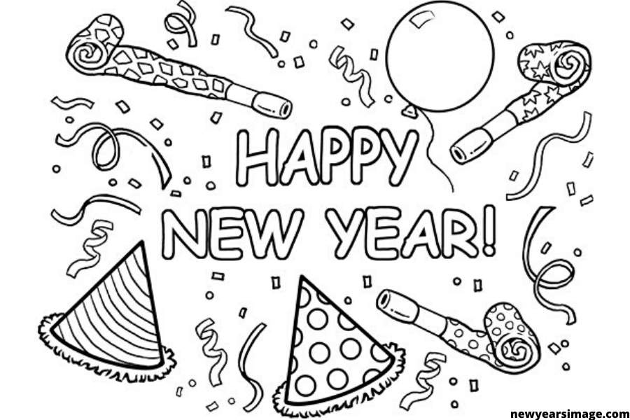 new years coloring pages 2020 happy new year printable