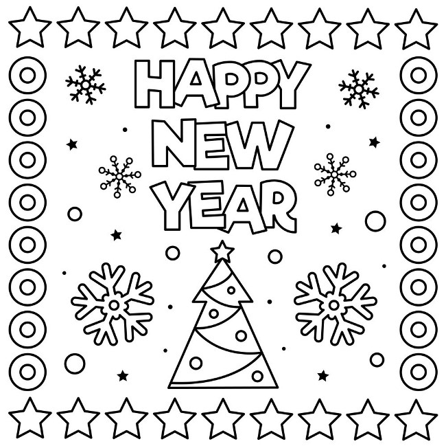 new years eve 2020 coloring pages coloring sheets
