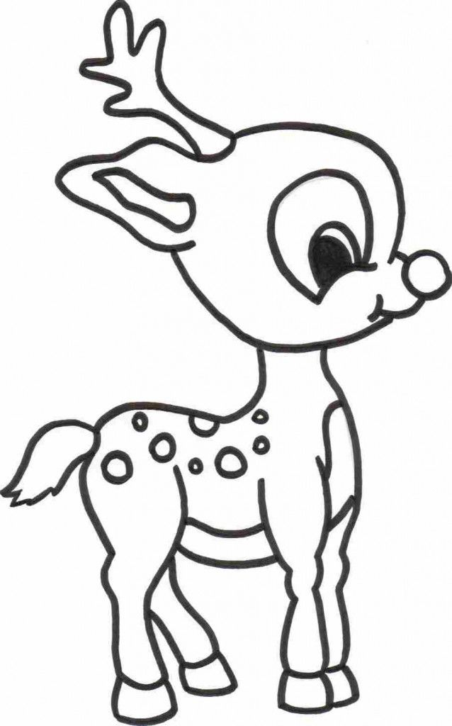 nice ba reindeer coloring page for computer weihnachten
