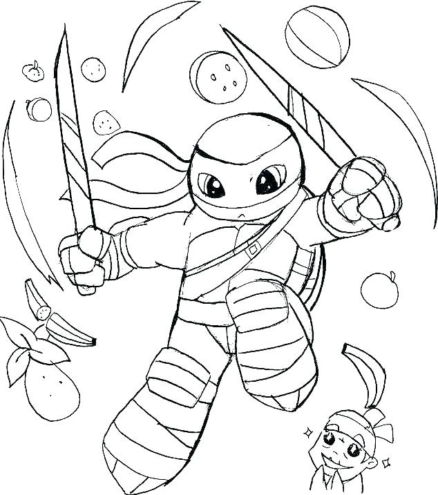 ninja turtles colouring pages teenage mutant colors color
