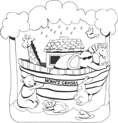 noahs ark coloring page free printable coloring pages
