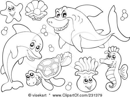 ocean animals coloring book pages sea animals drawings