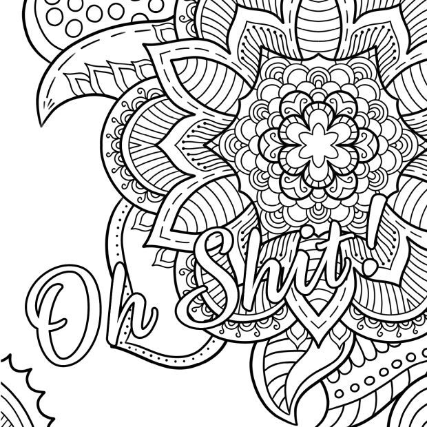 oh shit free coloring page swear word coloring book