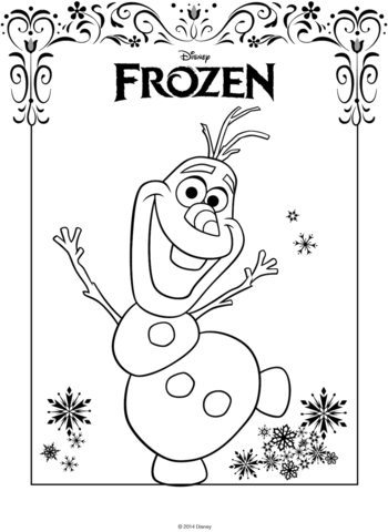 olaf from frozen coloring page free printable coloring pages