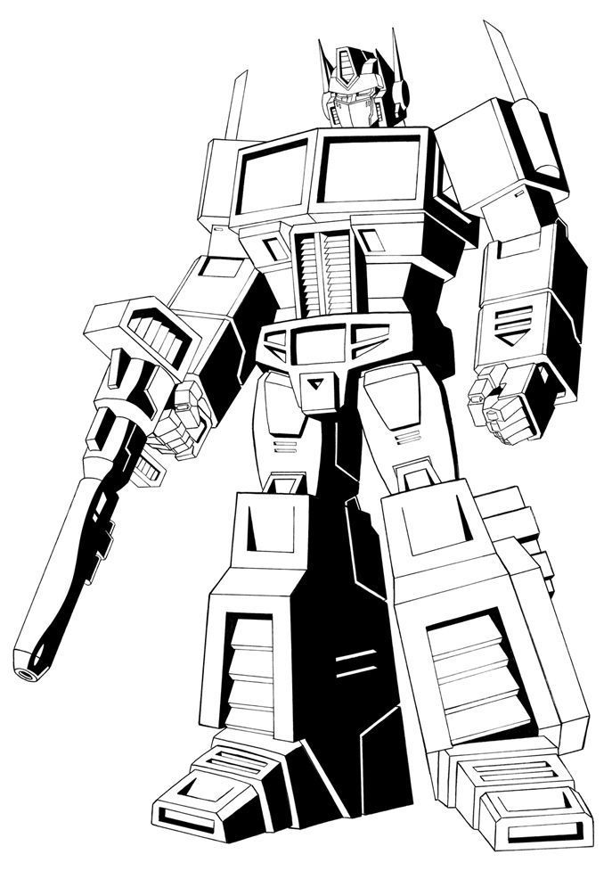 optimus prime coloring pages malvorlagen kinder malbuch