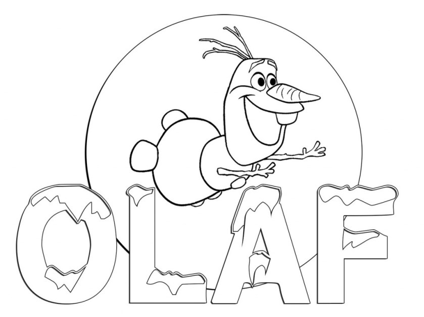 os olaf coloring pages