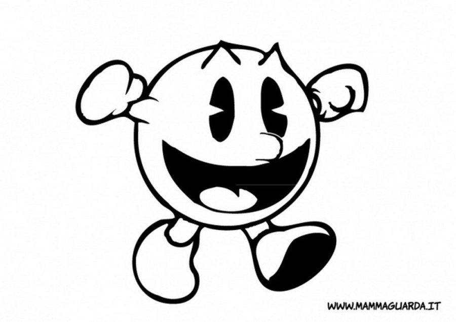 pacman coloring pages to print coloring home