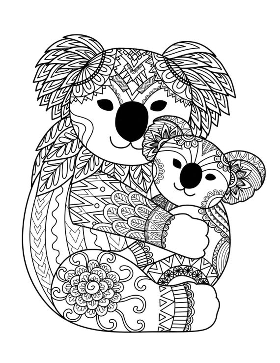 panda coloring pages for adults 1 printable coloring page instant download jpeg
