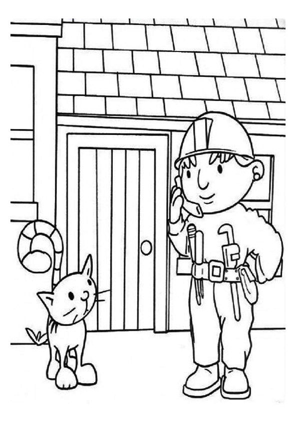 parentune free printable bob the builder coloring pages