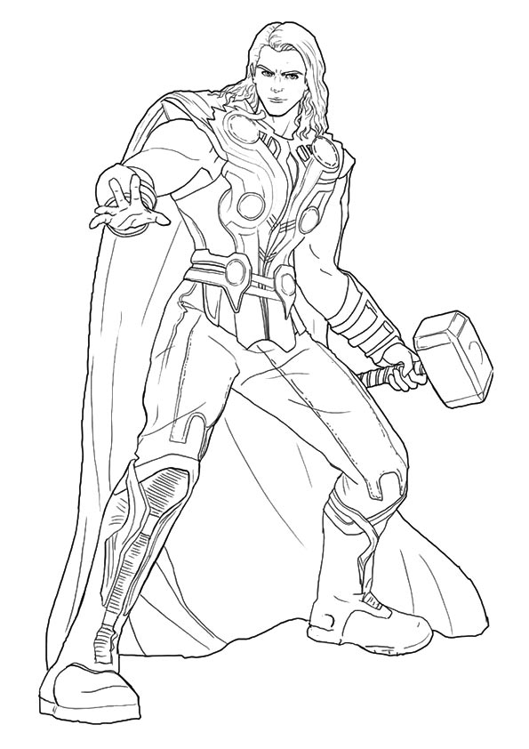 parentune free printable thor coloring picture