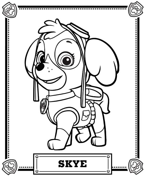 paw patrol coloring pages pdf at getdrawings free for