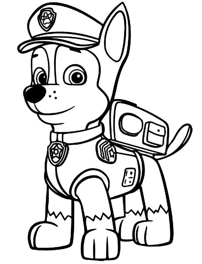 paw patrol coloring pages printable bing images paw