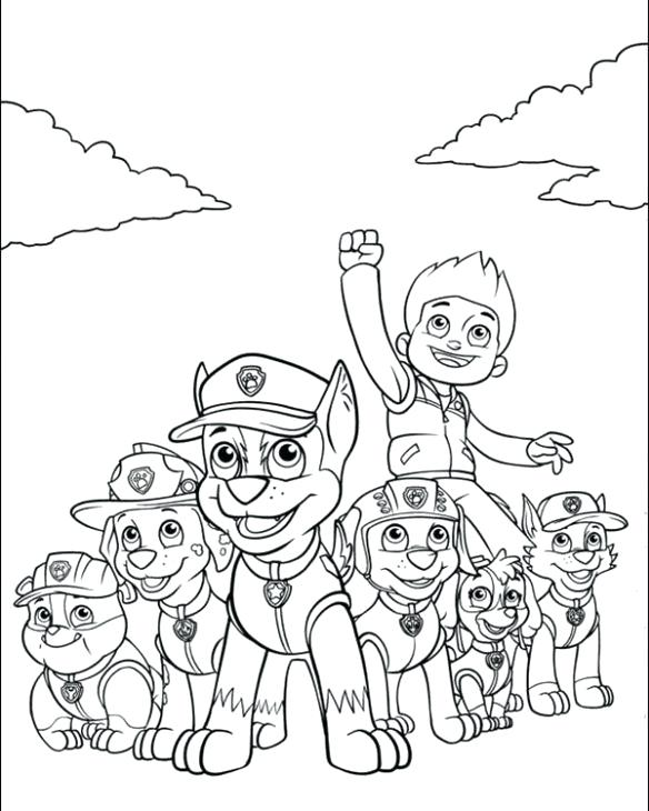 Paw Patrol Printable Coloring Pages Collection - Whitesbelfast