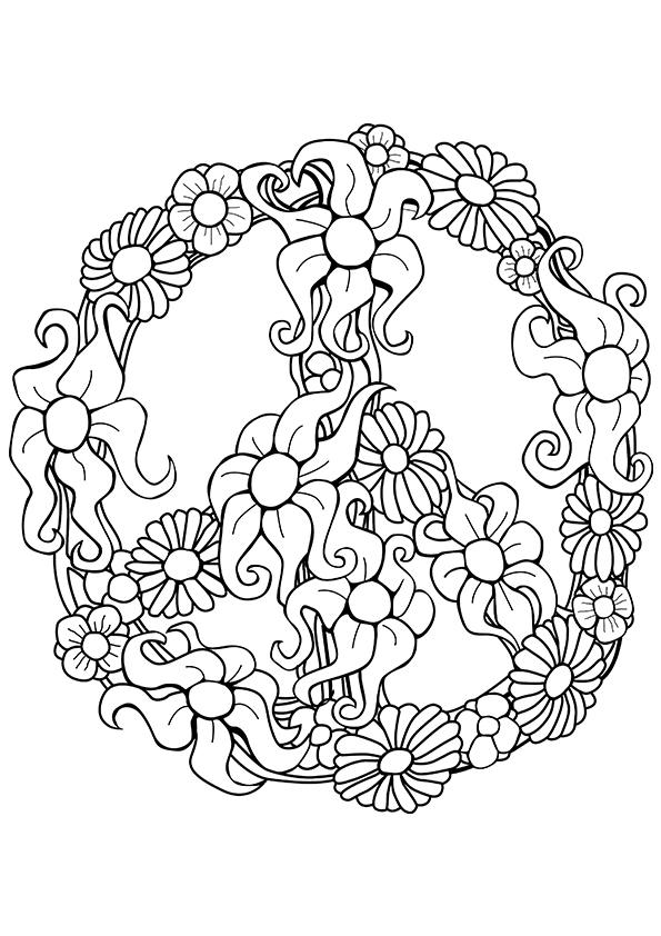peace sign coloring page clip art library