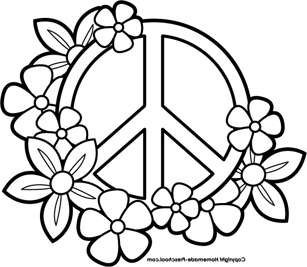 peace sign coloring pages at getdrawings free for
