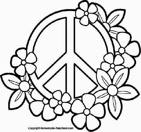 peace sign coloring pages draw coloring pages throughout
