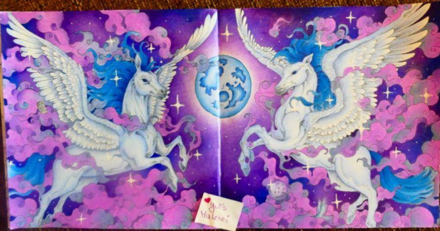 pegasus aus mythomorphia coloring book art coloring books