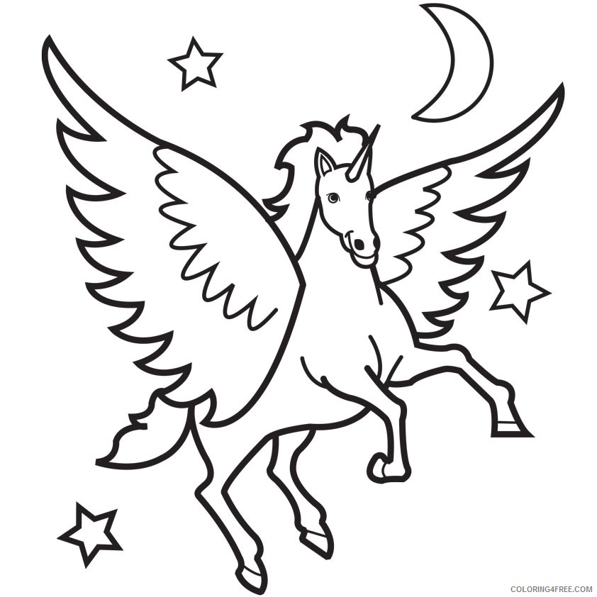 pegasus coloring pages printable coloring4free