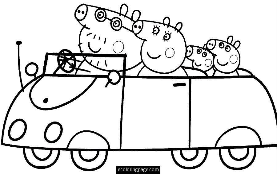 peppa pig 11 cartoons printable coloring pages
