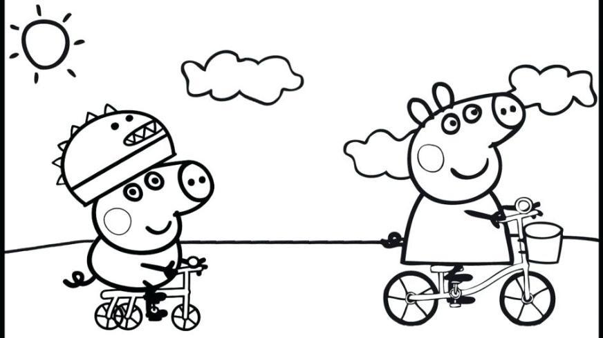 peppa pig coloring pages online at getdrawings free