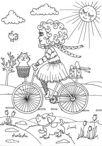 peppy in april omalovnka free printable coloring pages