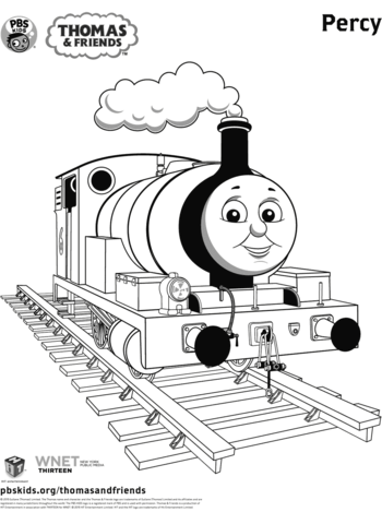 percy from thomas friends coloring page free printable