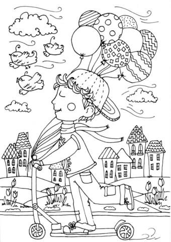 peter boy in april coloring page free printable coloring pages