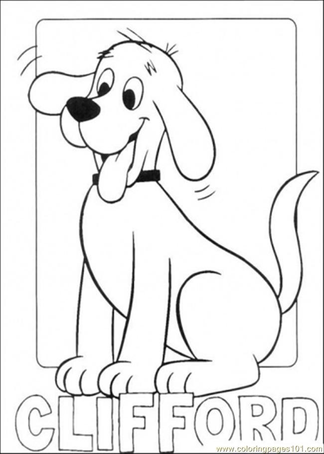 picture of clifford coloring page free clifford the big