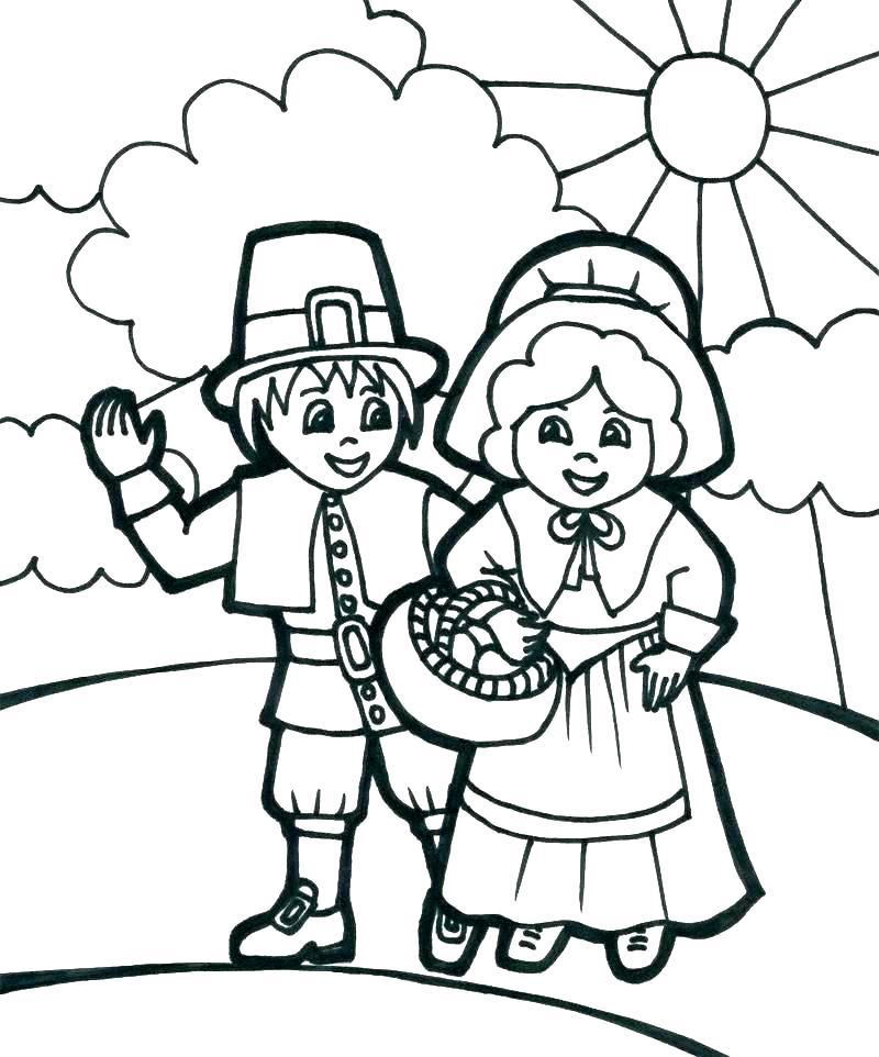 pilgrim coloring pages printable at getdrawings free