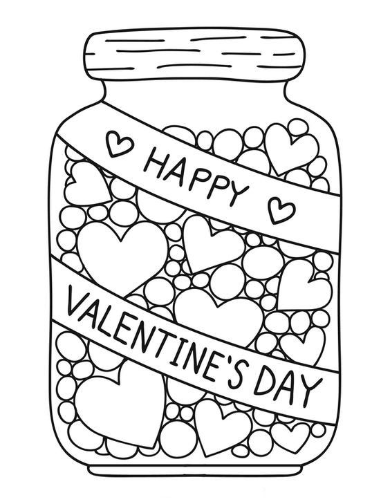 pin kimberly johannes on color pic valentine coloring