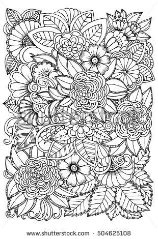 pin maureen tait on colouring book flower pattern