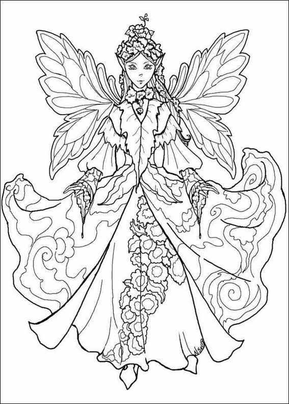pin monika borg on diverse fairy coloring fairy