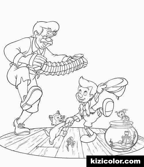 pinocchio family dance 7 kizi free coloring pages for