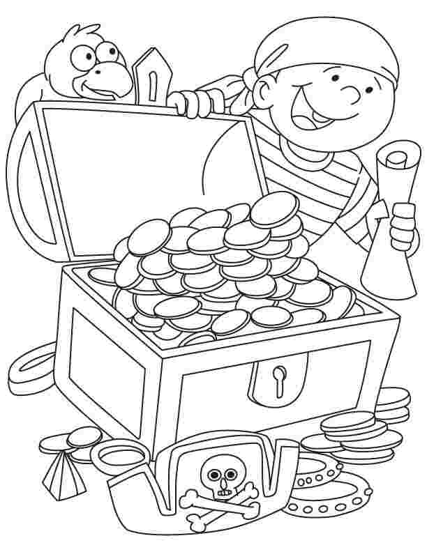 pirate coloring pages for toddlers pirate treasure coloring