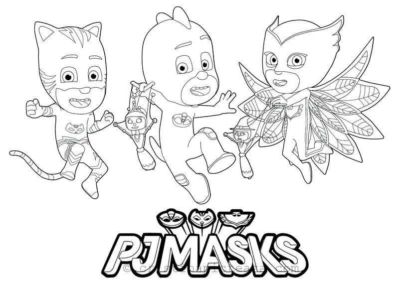 pj masks coloring pages coloring sheets with your heroes