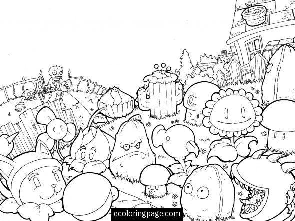 plants vs zombies coloring page printable plants vs