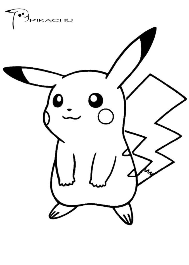 pokemon coloring pages pikachu cute pikachu coloring page