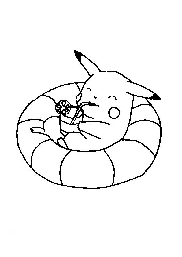 pokemon coloring pages pikachu to print fun for kids