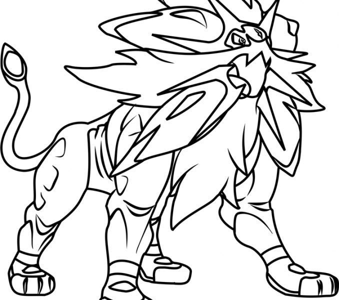 pokemon coloring pages sun and moon maga collection fun