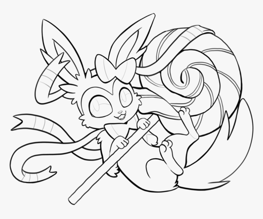 pokemon coloring pages sylveon eevee evolution pokemon