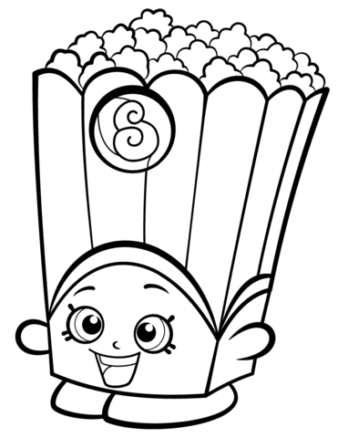 poppy corn shopkin coloring page free printable coloring pages