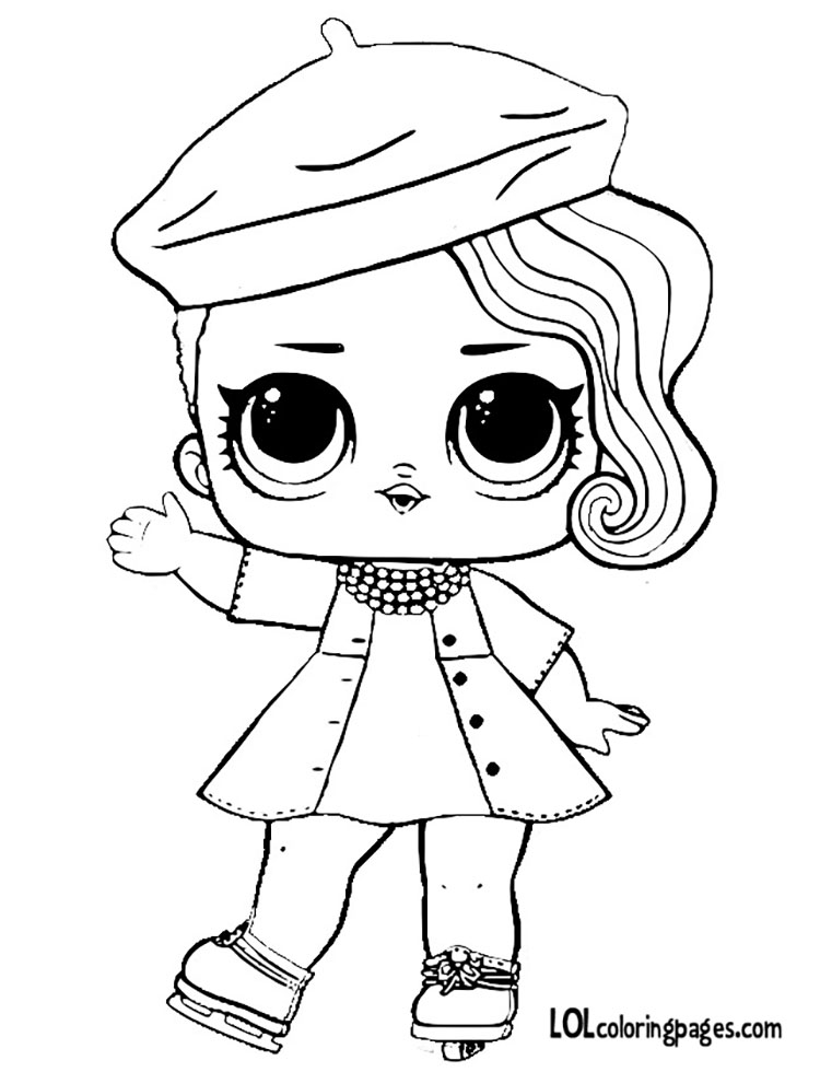 posh lol doll coloring pages
