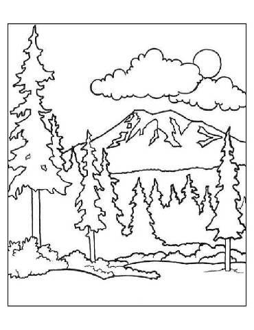 preschool forest coloring page malvorlagen fr kinder