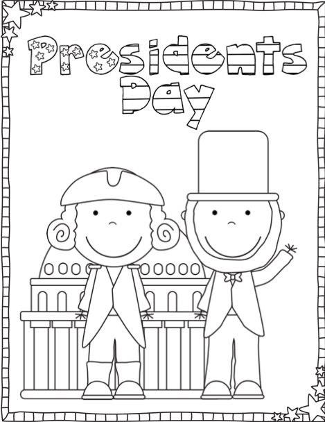 presidents day coloring pages presidents week presidents