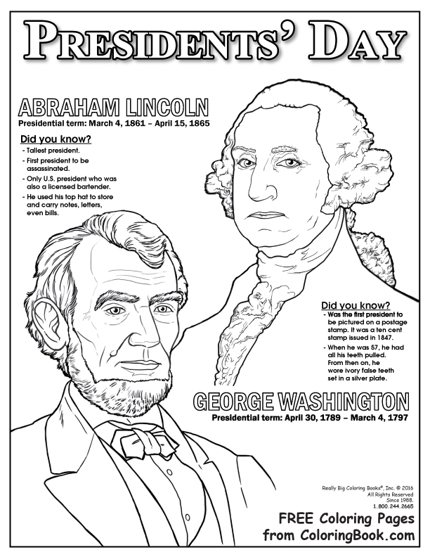 presidents day free online coloring page coloring books