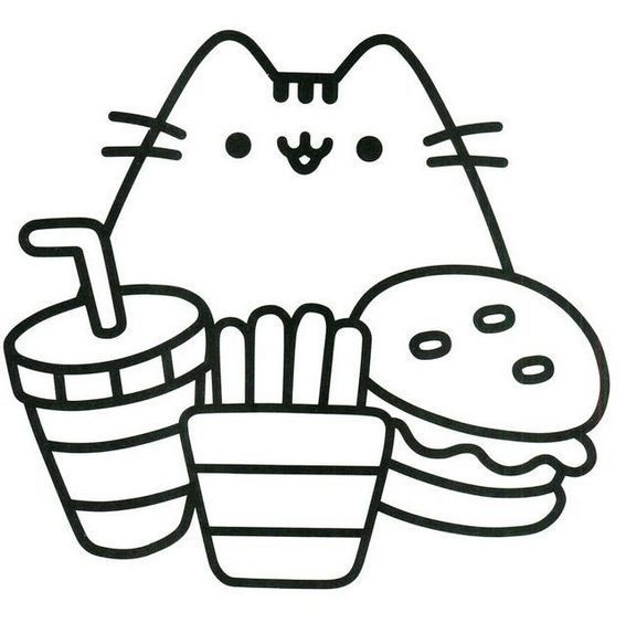 pretty cute pusheen coloring page pusheen coloring pages