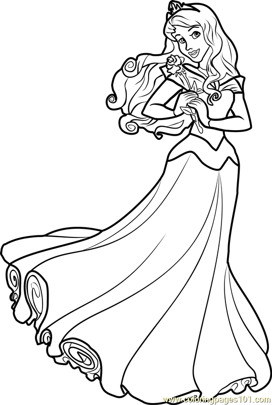 princess aurora coloring page free disney princesses