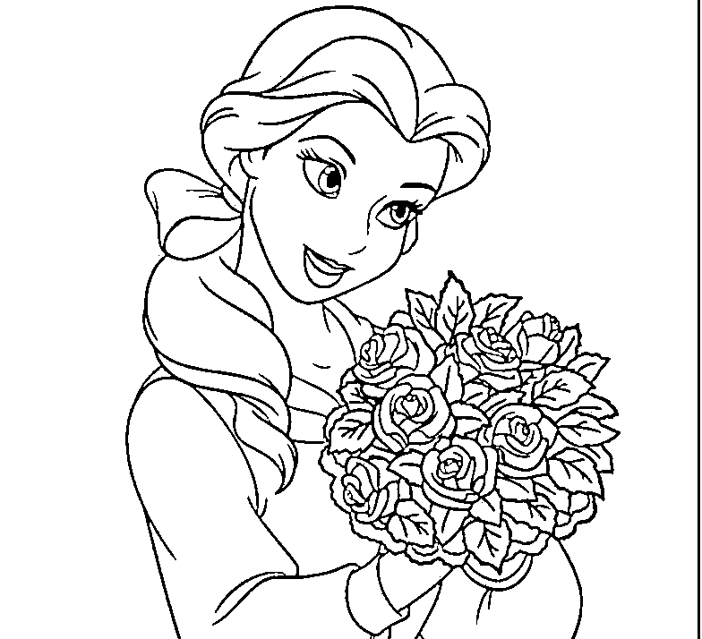 princess belle coloring pages coloring pages gallery