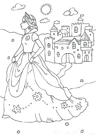 princess castle coloring pages at getdrawings free for