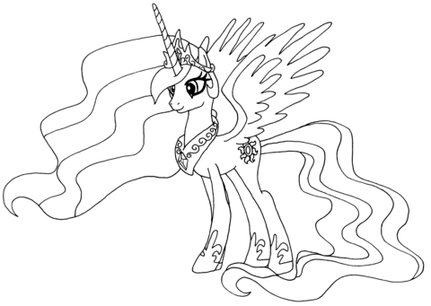 princess celestia coloring page free printable coloring pages